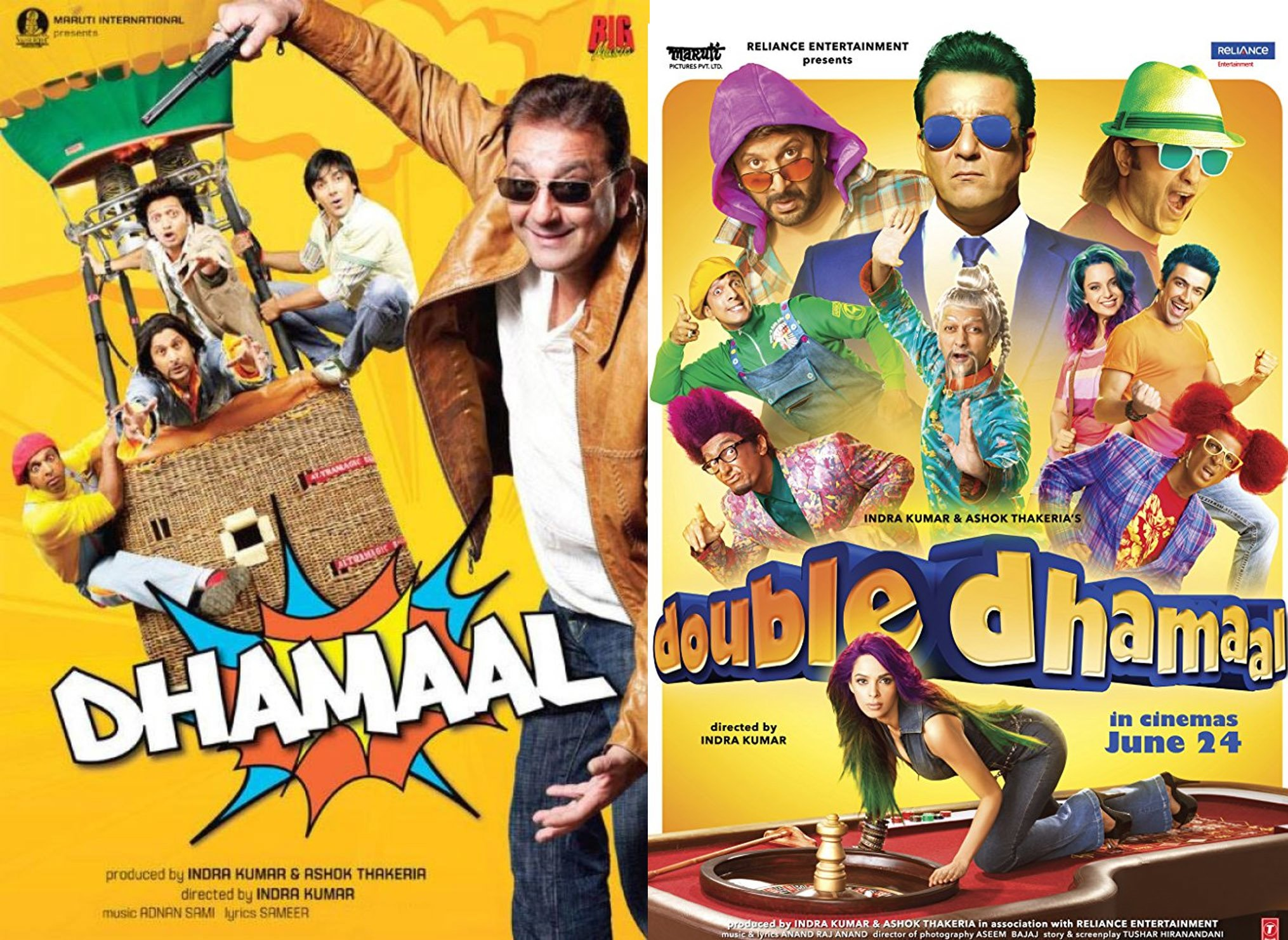 dhamaal and double dhamaal poster