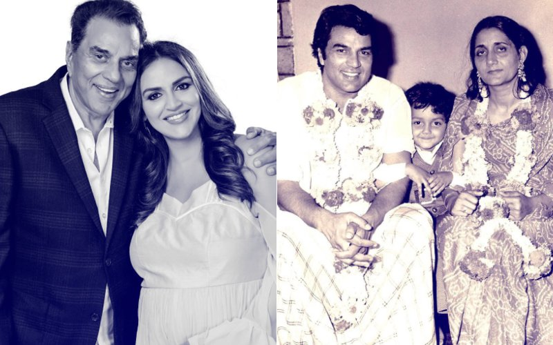 Esha Deol & Bobby Deol Share Lovely Pictures With Papa Dharam