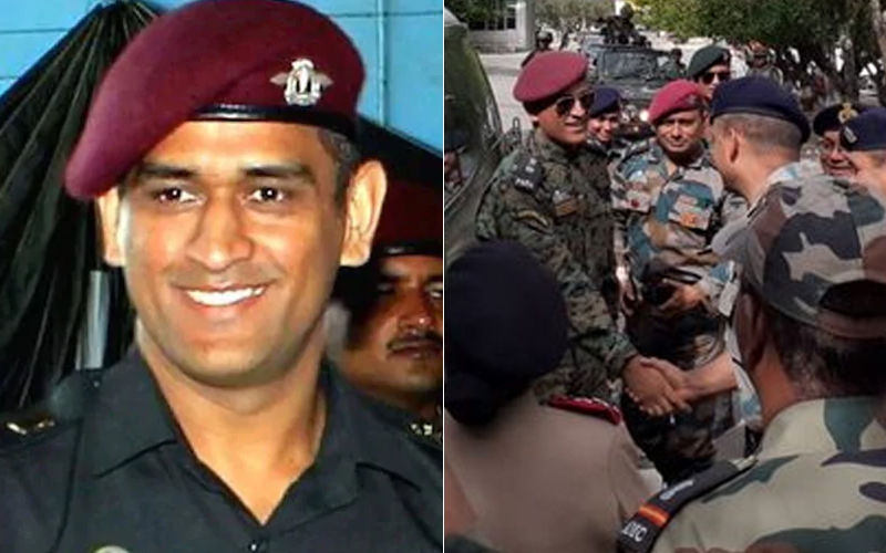 MS Dhoni Spends Time With Jawans At Army Hospital In Ladakh On The Ocassion Of Independence Day