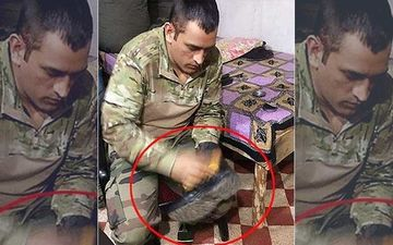 MS Dhoni Polishes His Shoes At The Army Camp And This Is How The Internet World Reacted