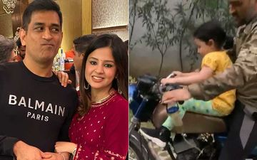 MS Dhoni's Wife Is Fed Up With Him And His Bike; Cricketer Takes His Daughter For A Ride Atop A Rusty Old Possession-VIDEO