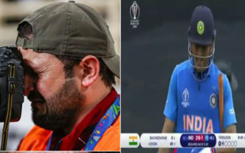 Truth Behind Viral Video Of Cameraman Crying Inconsolably Over MS Dhoni's Dismissal In India VS New Zealand ICC World Cup 2019 Semi-Finals
