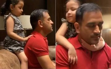 Ziva Dhoni Giving A Back Massage To MS Dhoni And Snuggling Up To Him Is The Cutest Thing You'll See Today-VIDEO