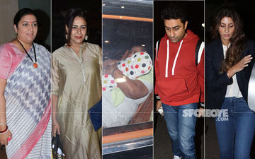 Dhoom Machi Dhoom: Smriti Irani, Abhishek Bachchan, Mona Singh At Ekta Kapoor's Son's Naamkaran Party And It Has Just Begun!