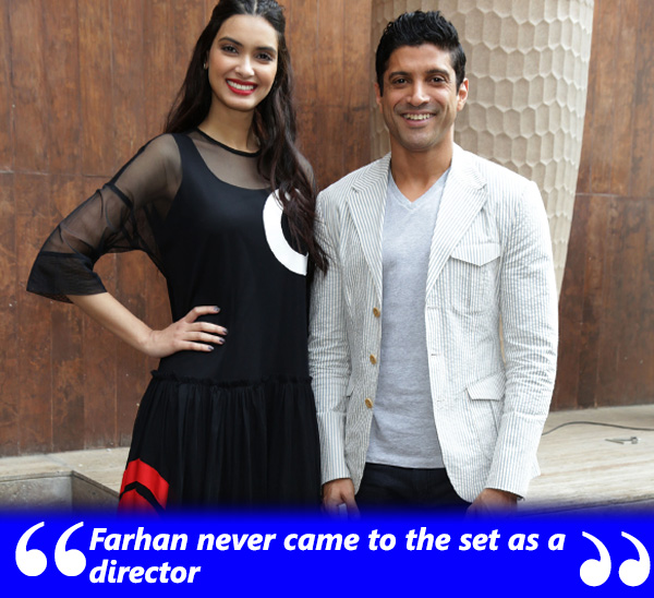 diana penty and farhan akhtar at lucknow central promotions