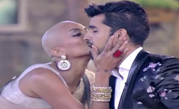 diandra soares kisses gautam gulati in bigg boss show on screen