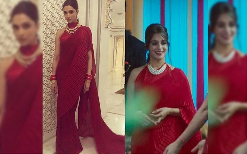 Dipika Kakar Apes Deepika Padukone's Red Ruffled Saree Look In Kahaan Hum Kahaan Tum