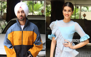 Diljit Dosanjh Sports An Uber Cool Look As Kriti Sanon Opts For A Body-Hugging Number For Arjun Patiala