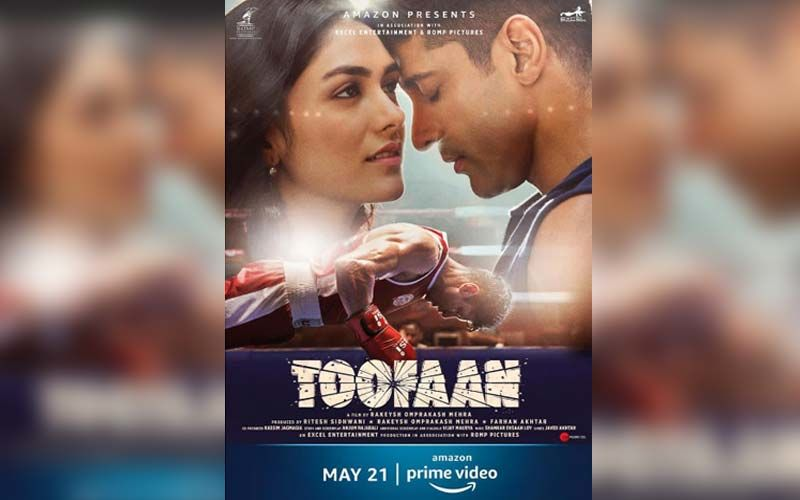 TOOFAAN New Poster Featuring Farhan Akhtar And Mrunal Takes The Excitement A Notch Up