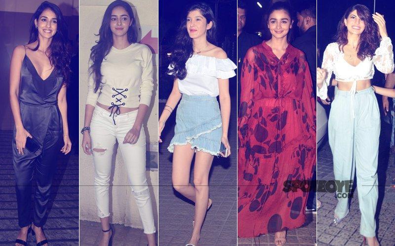 BEST DRESSED & WORST DRESSED At Judwaa 2 Screening: Disha Patani, Ananya Pandey, Shanaya Kapoor, Alia Bhatt Or Jacqueline Fernandez?