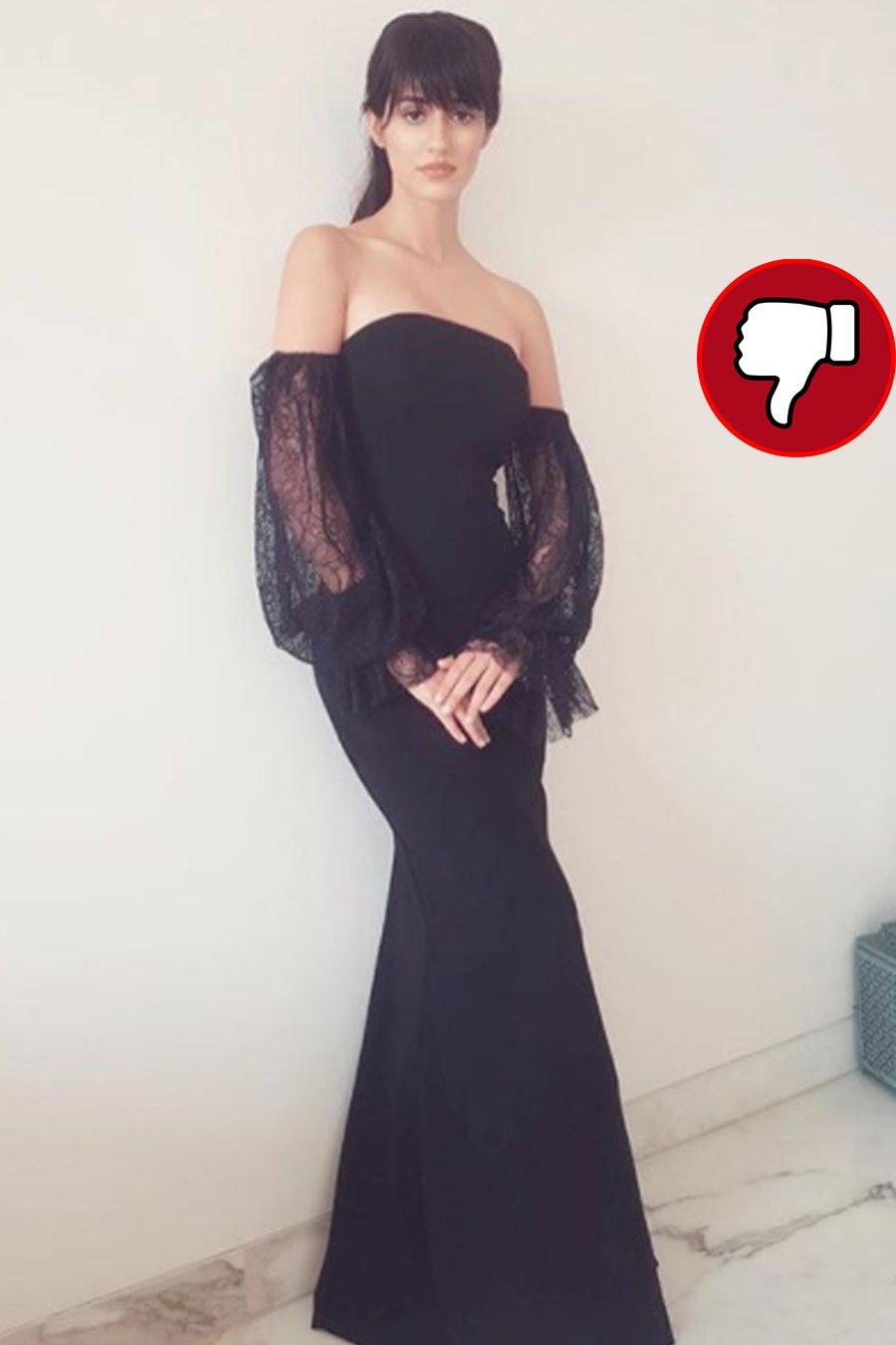 disha patani in a black gown