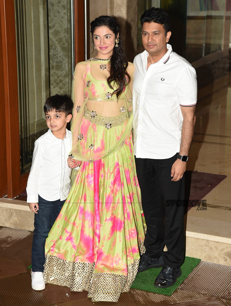 divya khosla kumar with husband bhushan and son ruhaan