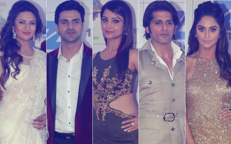 Divyanka Tripathi, Vivek Dahiya, Adaa Khan, Karanvir Bohra & Krystle D'souza Attend Zee Rishtey Awards