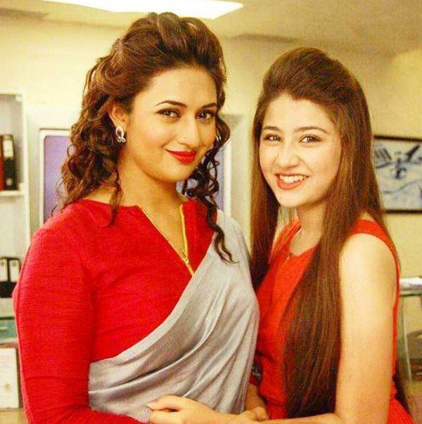 divyanka tripathi with aditi bhatia in yeh hai mohabbatien