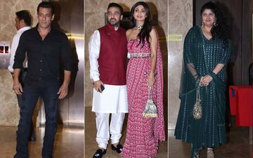 Diwali 2019: Salman Khan, Shilpa Shetty, Raj Kundra, Anshula Kapoor Bring In Season's First Diwali Party At Ramesh Taurani's House