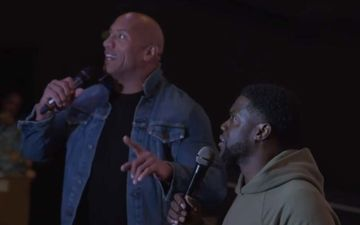Dwayne Johnson-Kevin Hart Make A Surprise Appearance At Theater Playing Jumanji; Give Goodies, Snacks- VIDEO