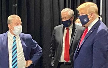 Donald Trump Wears A Face Mask For The Very First Time And The Internet Can't Stop Laughing At His 'Presidential Expense'