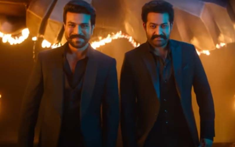 RRR The Film: Jr. NTR And Ram Charan Spotted Crooning To Dosti Amidst Travel