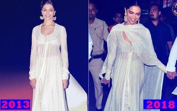 SAME SAME! Deepika Padukone REPEATS Her 2013 Outfit At Padmaavat Screening