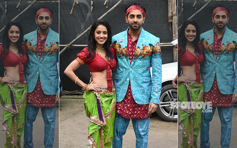 Dream Girl Song, Dil Ka Telephone Unveiled: Ayushmann Khurrana And Nushrat Bharucha Sports Funky Avatars; Opt For Outfits In Vibrant Shades