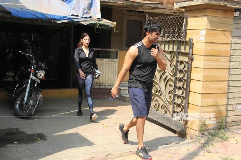 Sushant Singh Rajput with Rhea Charaborty