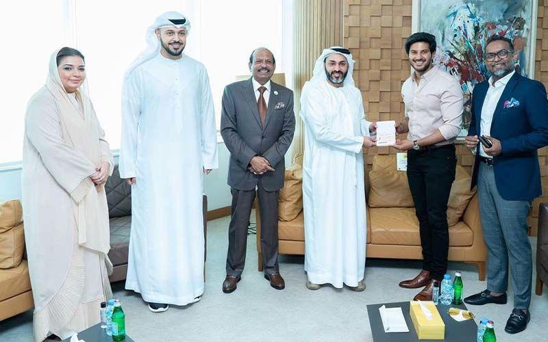 Dulquer Salmaan Shares Pics As He Receives UAE's Golden Visa