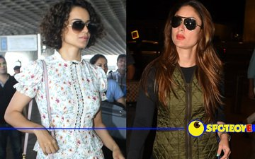 Kangana & Kareena's airport fashion!