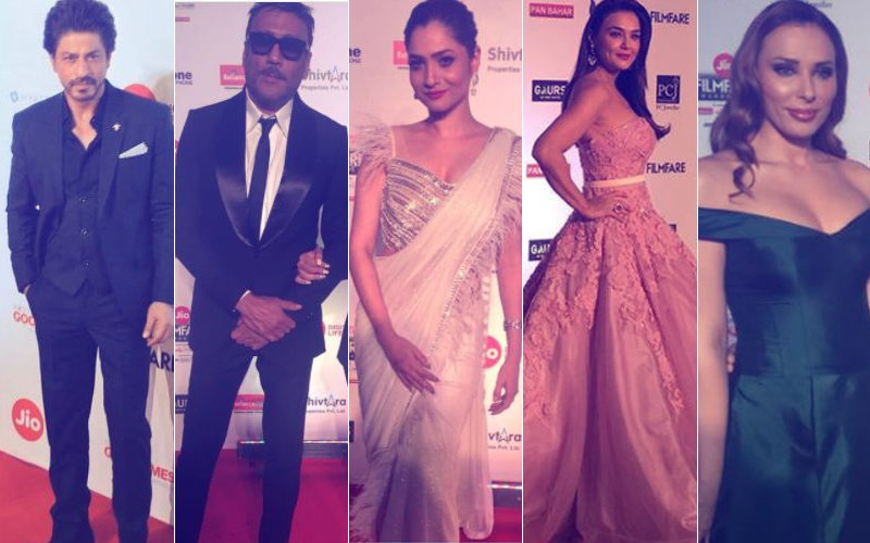 FILMFARE AWARDS 2018: Shah Rukh Khan, Preity Zinta, Jackie Shroff, Ankita Lokhande, Iulia Vantur Are The Early Birds