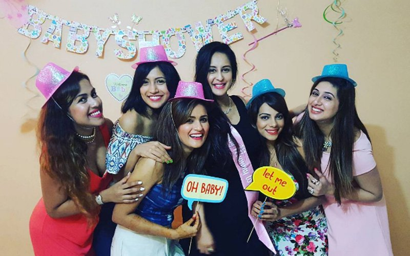 In Pics Chahatt Khanna S Friends Throw Surprise Baby Shower For Her