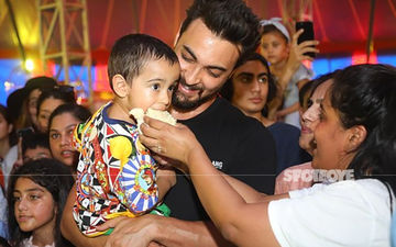 The Khans- Salman, Arbaaz, Sohail Celebrate Nephew Ahil's Birthday At Panvel Farmhouse