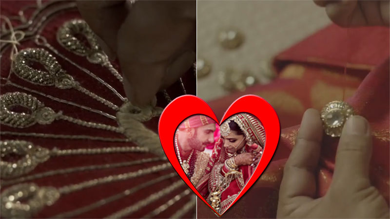 Watch How Deepika Padukone And Ranveer Singh's Sindhi Wedding Outfits Were Made