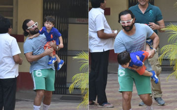 Taimur Captured In A Playful Mood With Dad Saif Ali Khan