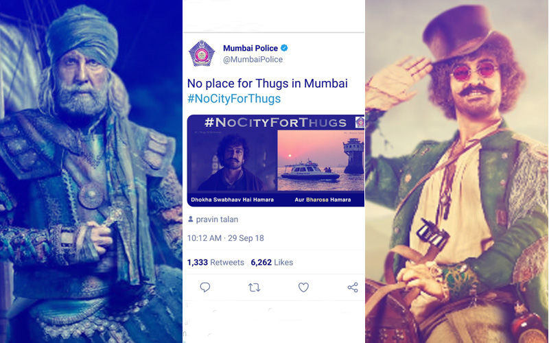 Amitabh Bachchan And Aamir Khan Respond To Mumbai Police's Humorous Tweet On Thugs Of Hindostan