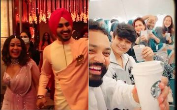Neha Kakkar, Tony Kakkar and Sonu Kakkar Board A Flight to Delhi, Groom-To-Be Rohanpreet Singh Can't Keep Calm