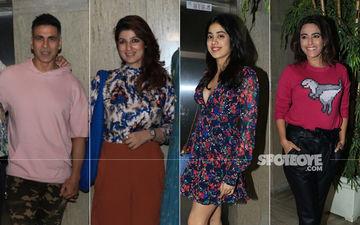 Ek Ladki Ko Dekha Toh Aisa Laga Screening: Akshay Kumar-Twinkle Khanna, Janhvi Kapoor, Swara Bhasker Watch The Film