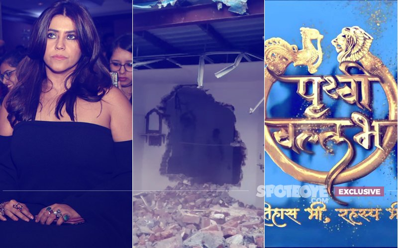 HOAX CALL: Not Ekta Kapoor's But Sony TV Show Prithvi Vallabh's SET Has Been DEMOLISHED!