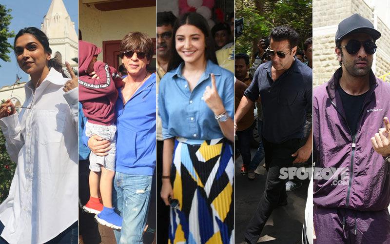 Lok Sabha Elections 2019: Shah Rukh Khan, Deepika Padukone, Anushka Sharma Vote In Mumbai