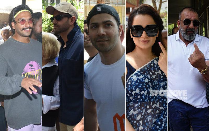 Lok Sabha Elections, 2019: Ranveer Singh, Hrithik Roshan, Kangana Ranaut Flaunt The Inked Finger