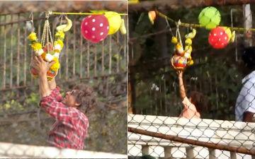 Shah Rukh Khan, AbRam Break Dahi Handi! Govinda Aala Re, Aala!