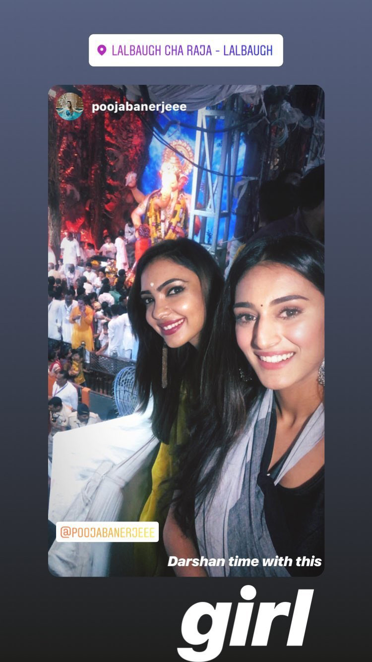 erica fernandes and pooja banerjee at lalbaugh