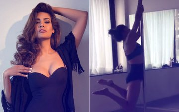 WATCH: Hottie Esha Gupta Is Learning How To Pole Dance