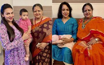 Unseen Photos Of Esha Deol's Daughters, Miraya And Radhya With Their Grandmom Hema Malini