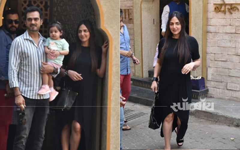 बेबी रध्या के साथ ईशा देओल और भरत तख्तानी ने किया टाइम स्पेंड