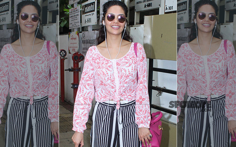 FASHION CULPRIT OF THE DAY: Ouch! Esha Gupta's Print-On-Print Is A Horrific Sight