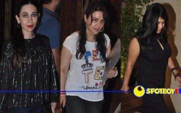 Karisma, Preity, Malaika and Ekta party together
