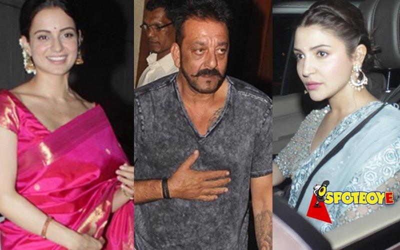 What did Kangana, Sanjay and Anushka do last night?