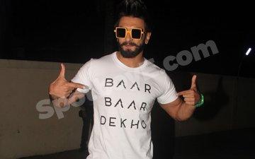 Ranveer Singh Makes A Wacky Entry At Baar Baar Dekho Screening