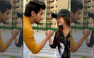 Jannat Zubair Beats TikTok Star Faisal Shaikh In An Arm-Wrestling Match; Faisu Is Too Distracted Looking At Her-VIDEO
