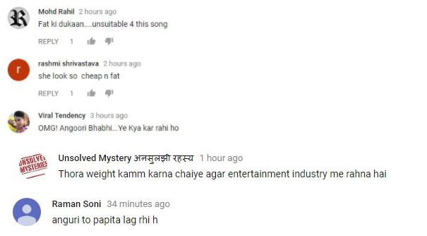 fans comment on shilpa shinde item song