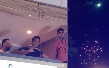 WATCH: Salman Khan Waves Out To Fans As They Welcome Him With Firecrackers